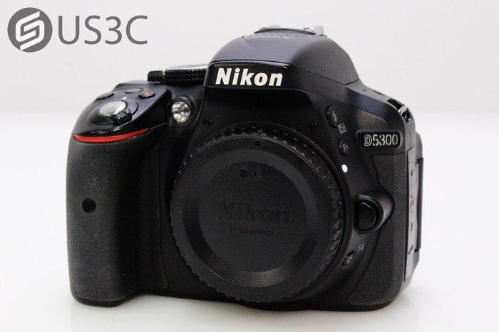 【US3C-小南門店】尼康 Nikon D5300 單機身 單眼相機 2420萬畫素 內建WiFi 快門3120次 二手單眼相機