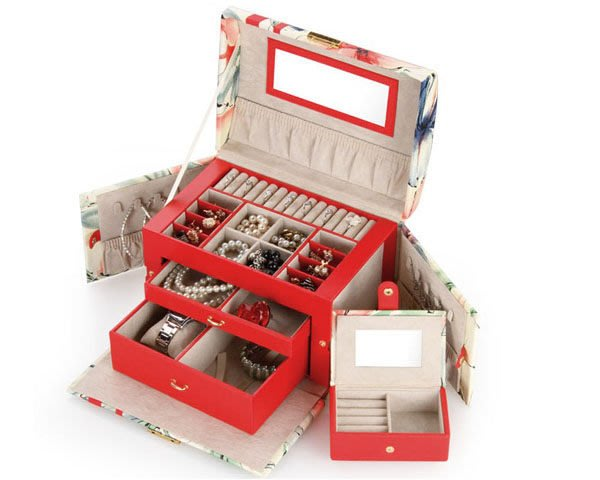 5Cgo【鴿樓】會員有優惠 16908184148 複古首飾盒大號公主首飾箱珠寶箱高檔飾品盒宮廷珠寶盒手飾盒