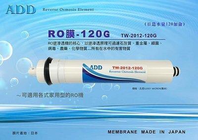 【水易購淨水網-苗栗店】ADD 120G RO膜 (日造水量120加侖、日本膜片)