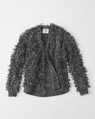 【天普小棧】AF A&F Abercrombie&Fitch Shaggy Jacket寬鬆款厚款毛茸茸開襟毛衣外套L號