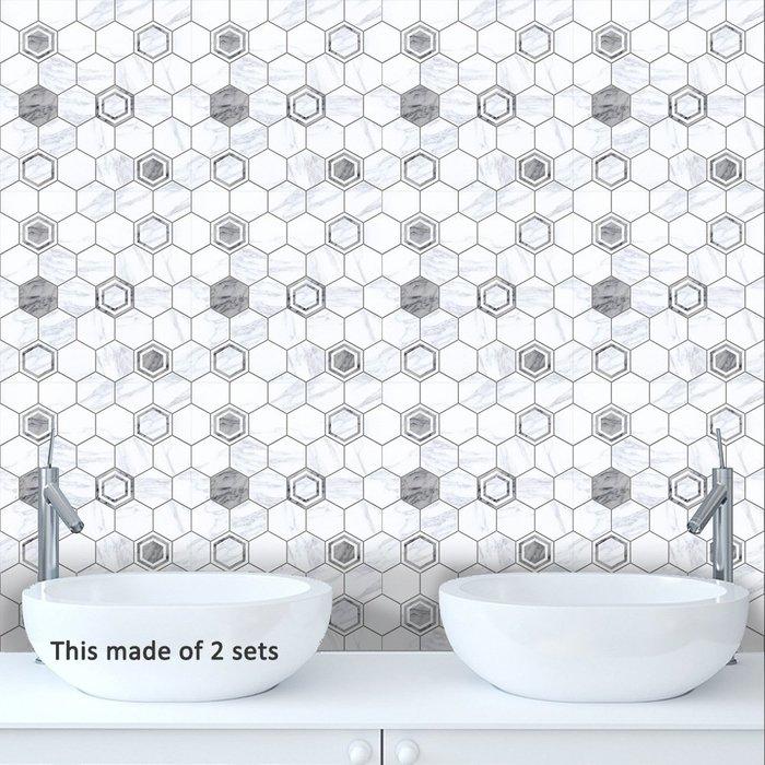暖暖本舖 灰白大理石紋路 3D防水磁磚貼 防水 防髒汙 防灰塵 背景造景貼 裝潢壁貼 浴室貼 廚房貼 裝潢必用 客廳貼