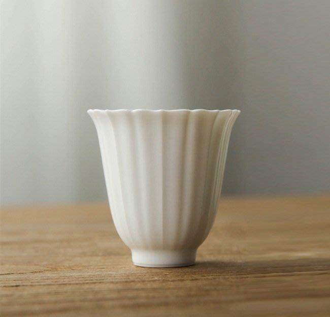 【茶嶺古道】白玉瓷 花瓣杯(小) / 葵口杯 茶杯 主人杯 品茗杯 德化白 玉瓷