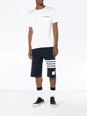 CC Collection 代購 Thom Browne 經典款 白/灰/深藍三色織帶口袋短袖T恤