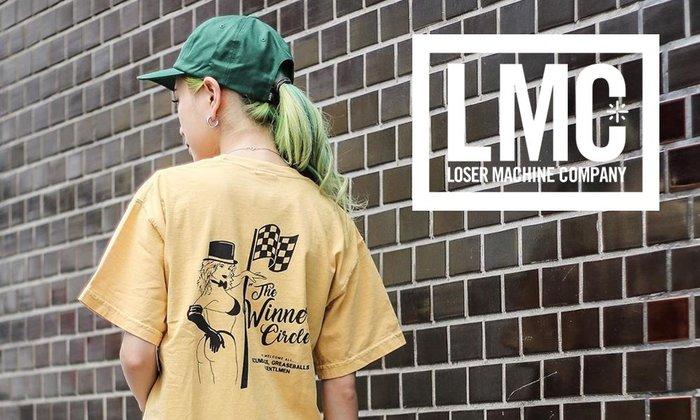GOODFORIT / 美國Loser Machine Top Hat Pigment賽道女郎主題短袖上衣/兩色