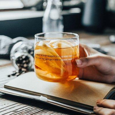 娜個小屋【特惠 3件8折】北歐創意英文耐高溫水杯玻璃隨飲料杯早餐牛奶杯不同選項 不同價格