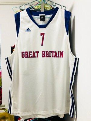 運動專用~蒙薩邦蘇 英國男籃國家隊 GI落場版球員版球衣 倫敦奧運歐版正品