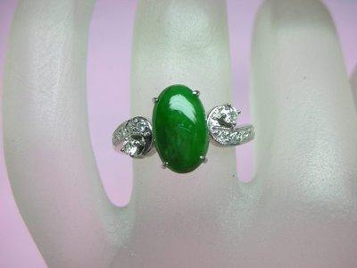 (雲凱珠寶部落格)11X7MM天然翡翠A貨戒指,翡翠戒指