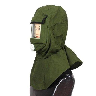 防護面罩噴砂噴塑面具噴砂帽打砂帽 勞保面罩 防毒面具防塵頭罩潮