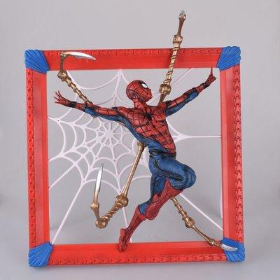 【紫色風鈴3】復仇者聯盟 相框 蜘蛛人 壁掛 A款 B款場景模型盒裝 港版