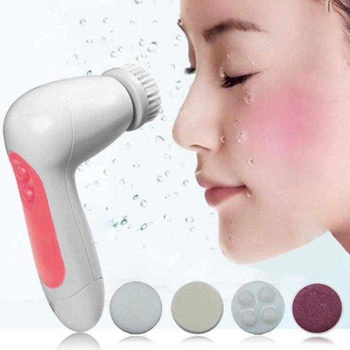 洗臉神器5合1電動防水洗臉刷潔面儀   潔面刷毛孔清潔器去黑頭洗臉機 【全館免運】
