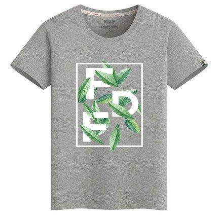 [C.M.平價精品館]M~6XL清新派帥氣百搭精梳純棉短袖T恤  黑/藍/綠/紅/灰白色  加大碼