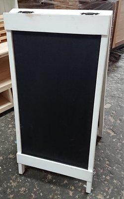 zakka糖果臘腸鄉村雜貨坊      木作類..Meron雙面黑板架(廣告牌開店用指示牌指標黑板粉筆道具架繪畫板塗鴉板