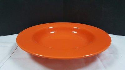 【無敵餐具】台製色釉陶瓷高級義大利麵盤...