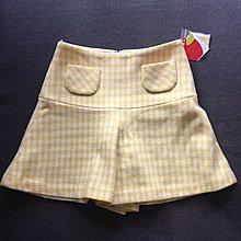 ❤️一口價$280 Franche Lippee 全新 日本製 黃白格子絨布裙褲