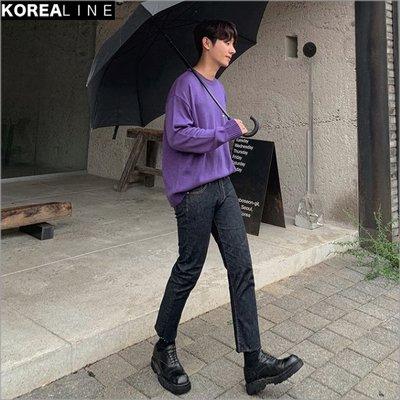 搖滾星球韓國代購 都會百搭修身顯瘦直筒牛仔褲 / 2色 LF2152