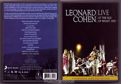 Leonard Cohen Live at the Isle of Wight 1970 (DVD/dts)@XI31227