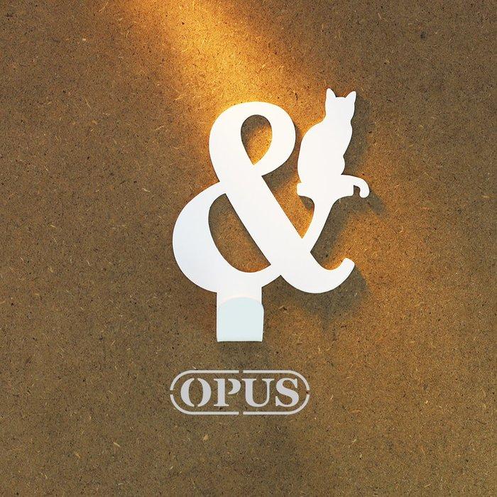 當貓咪遇上符號and《優雅白》壁飾掛勾 造型無痕掛鉤 居家收納 牆面壁掛【OPUS東齊金工】HO-nb12-and(W)