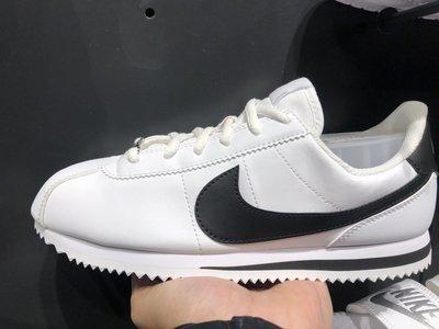 特價 NIKE CORTEZ BASIC SL GS 皮革 黑白配色 阿甘 女生 鐵牌 904764-102 慢跑鞋