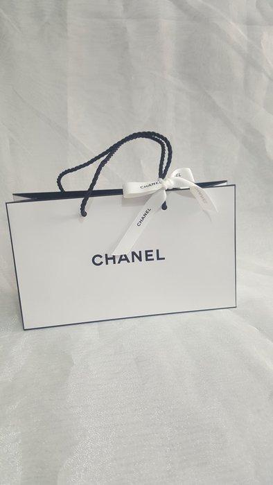 CHANEL 香水保養品身體乳彩妝品 蝴蝶結緞帶手提袋 紙袋 包裝袋 現貨