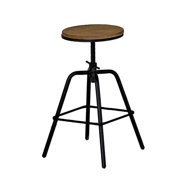 【DH】商品貨號N991-14商品名稱《瑞 納》松木實木原木升降椅(圖一)53~70CM。簡約雅緻經典。主要地區免運費
