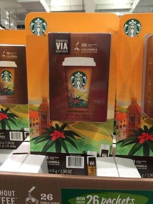 好市多代購~STARBUCKS哥倫比亞即溶研磨咖啡 2.1公克*26包入