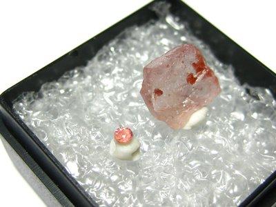 【Texture & Nobleness 低調與奢華】天然彩色藍寶石 教學標本&原礦 粉紅色藍寶石組 SP-01