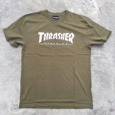 ☆LimeLight☆ THRASHER SPLIT S/S TEE 潑墨 綠色