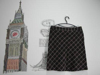 浪漫滿屋 專櫃商品Single noble(S/NO8111)女裝/毛料短裙