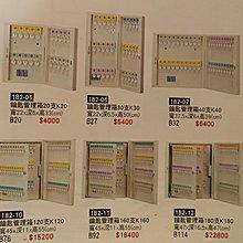 亞毅辦公家具06-2219779 鑰匙管理箱 20支鑰匙收納箱 160支收藏箱 120支鑰匙管理箱