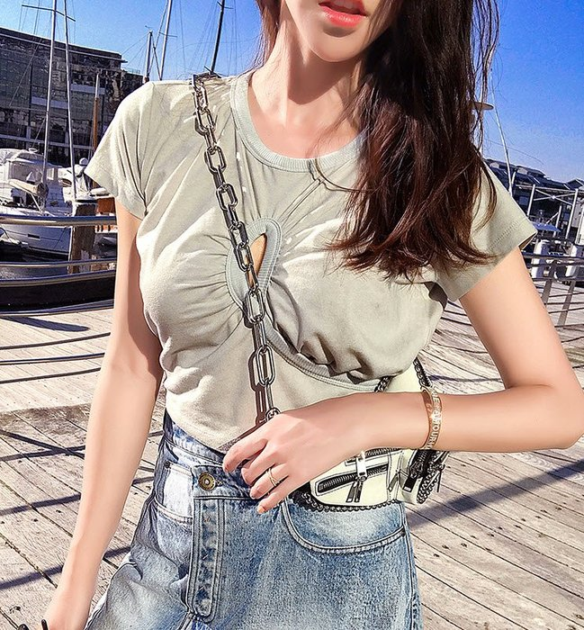 《巴黎拜金女》碎花藍色熱褲度假海邊休閒純棉印花高腰短褲