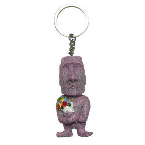 (I LOVE樂多)少見商品-智利復活島迷你Moai造型經典求愛鑰匙圈 摩艾 送人自用兩相宜