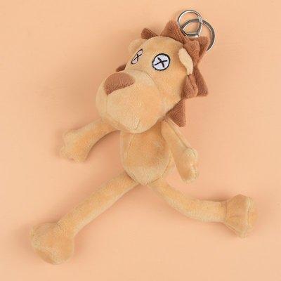 汽車鑰匙扣掛件毛絨可愛公仔女玩偶創意飾品禮物網紅鑰匙鏈圈diy