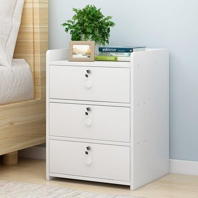 『i-Home』簡易床頭櫃簡約現代床邊收納小櫃子儲物櫃多功能經濟型帶鎖床邊櫃