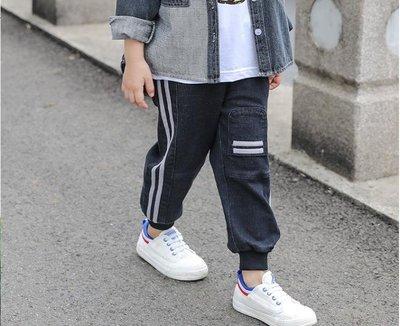 [夏不為利]男童牛仔褲2019春秋新款...