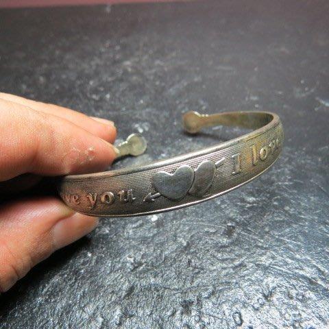 【競標網】高貴時尚西藏藏銀(我愛你)造型手鍊(回饋價便宜賣)限量5組(賣完恢復原價150元)