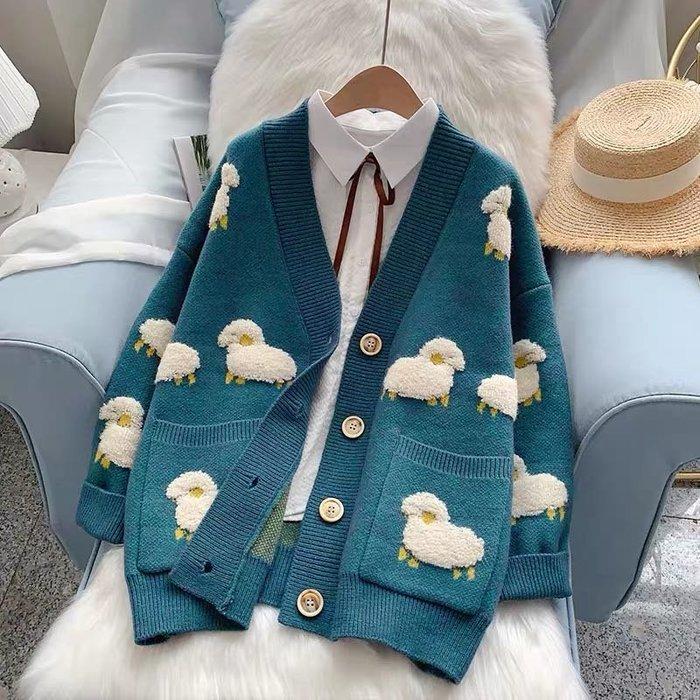 【2A Two】刺繡立體 귀엽다 羊咩咩🐑針織外套『BB00500』