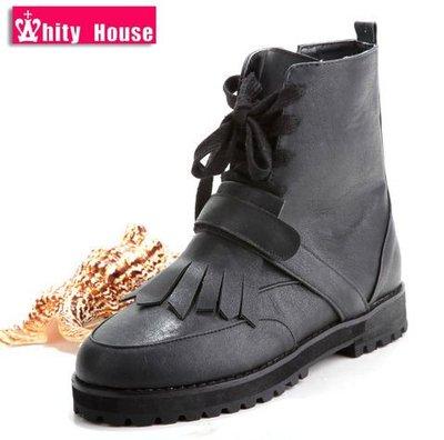 =WHITY=韓國GRAMMI品牌 韓國製 高級軟皮 AA精品獨家防滑手工短靴 時尚 S4EW582