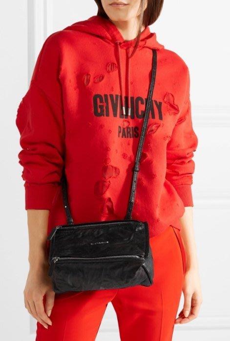 Givenchy Pandora bag 迷你水洗羊皮 紀梵希潘朵拉慾望肩背包 黑