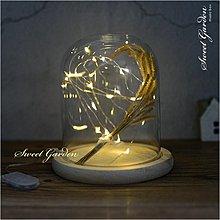 Sweet Garden, 2米20燈 LED銀線燈串 暖白光迷你燈珠 可簡易塑形 電池盒開關送電池 DIY火樹銀花禮物