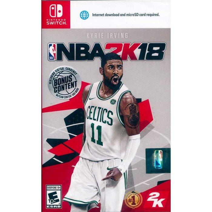 (現貨全新) NS SWITCH 勁爆美國職籃 2K18 中英文美版 NBA 2K18
