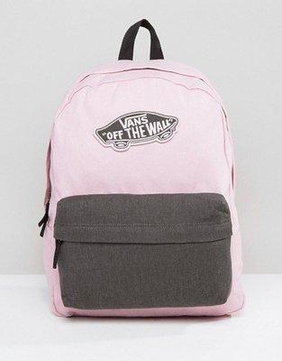 代購 Vans Realm Logo 粉紅色後背包