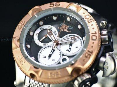 《大男人》Invicta ##562 Subaqua瑞士新龍五50MM個性潛水錶,古銅金非常漂亮(本賣場全現貨)
