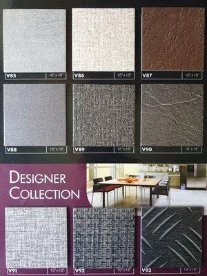 美的磚家~知名品牌福樂FLOORWORKS極品石紋塑膠地磚塑膠地板~質感品質佳45cmx45cmx3m/m,每坪950元
