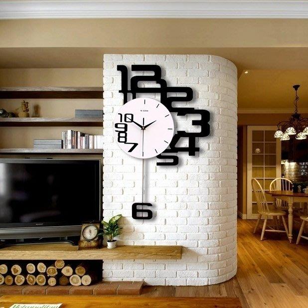 北歐家用大氣個性創意靜音掛鐘壁墻鐘錶時尚藝術客廳臥室石英時鐘  限時免運