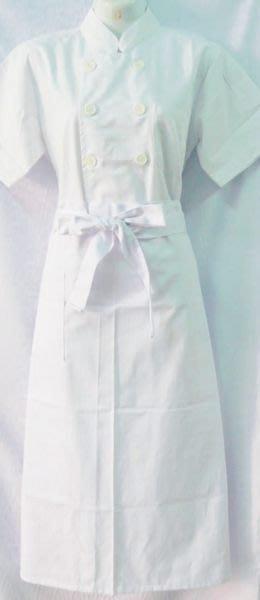 ☆°萊亞生活館 °圍裙 ~半長圍裙。廚師圍裙。工作圍裙~【半長-白色下標區】