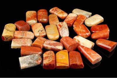 壽山石印章紅石隨形章金石篆刻料練習章印石 石料批發 隨機10枚