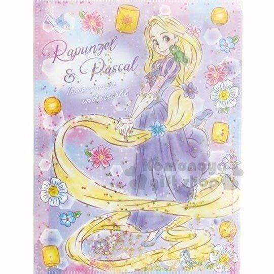 《現貨在台》長髮公主6+1文件資料夾分隔袋/紫色花朵 冰雪奇緣夾鏈袋 封面小星星是流沙會流動
