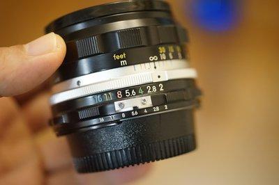 【售】尼康 Nikon H.C. auto 50mm F2 標準定焦鏡(附aid環)轉接環直上Sony E 卡口