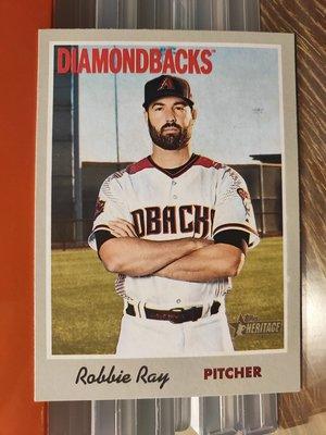 (記得小舖)MLB ROBERT GLENN RAY 亞歷桑納響尾蛇 2019 TOPPS 普卡1張 台灣現貨