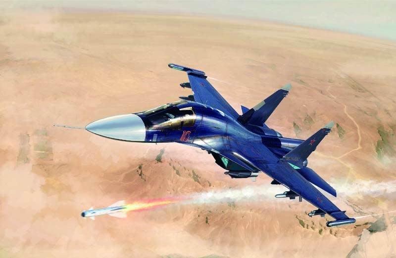 TRUMPETER 小號手 1/72 Russian Su-34 Fullback Fighter (01652)